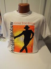 GILDAN SIZE MEDIUM NEW WITH OUT TAG MICHAEL JACKSON GONE TOO SOON T SHIRT