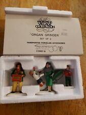 "Dept 56 Dickens Village ""Organ Grinder"" (Set Of 3) #5957-9 with original Box"