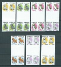 Azerbaijan,2014,Dogs,IMPERF,gutter pair,MNH,NOT listed,RARE