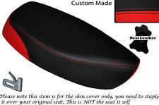 RED & BLACK CUSTOM FITS SUZUKI CS 125 82-86 DUAL LEATHER SEAT COVER ONLY