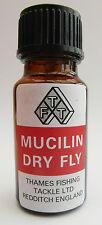 Mucilin ROSSO LIQUIDO Dry Fly Floatant bottiglia con Spazzola per la pesca trota