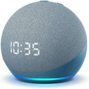 Amazon Echo Dot 4th Gen 2020 Smart Speaker W/CLOCK Twilight Blue *NEW, SEALED*