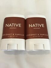 Native Deodorant Coconut & Vanilla .35 oz 2 Pack