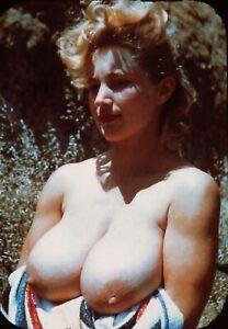 Vint Nude Virginia Bell Posing 99055  35mm Slide
