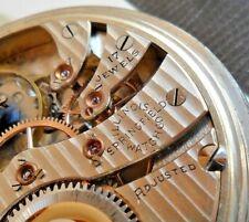 Vintage 1923 Illinois Grade 305 Open Face 17 Jewel Adj 16 Size Pocket Watch Runs