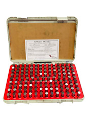 125 Piece Vermont Gage Pin Gauge Set 1401 1649mm Steel Pin Class Zz Minus