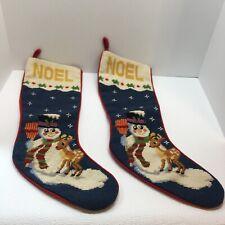 HANDMADE NEEDLEPOINT CHRISTMAS STOCKING