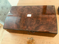 """VINTAGE HAND CRAFTED CUSTOM MADE WRITING SLOPE WALNUT MOTHER OF PEARL 19"""" X 12"""""""