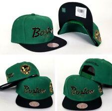Mitchell Ness Green / Black Script Boston Celtics 12x Champion side snapback Hat