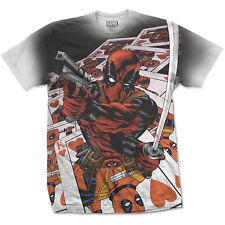 Deadpool Cards Sublimation Marvel X-Men Official Tee T-Shirt Mens Unisex
