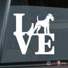 Love Irish Terrier Sticker Die Cut Vinyl - park red