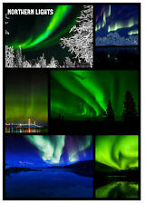 NORTHERN LIGHTS - SOUVENIR NOVELTY FRIDGE MAGNET - SIGHTS - GIFT - XMAS - NEW