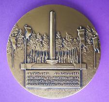Médaille de la Ville de Roanne en Bronze, graveur Pichard, diam : 6.5 cm