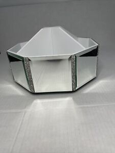 BELLA LUX NEW!!! Rhinestone Mirror Spinning MAKEUP BRUSH Bath Accessory Vanity