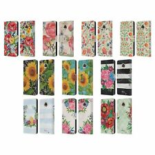 OFFICIAL PAUL BRENT FLORAL LEATHER BOOK WALLET CASE COVER FOR MOTOROLA PHONES