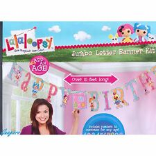 10ft LALALOOPSY ADD-AN-AGE JUMBO LETTER BIRTHDAY BANNER KIT PARTY SUPPLIES DECOR