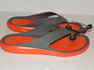 Crocs Swiftwater Wave Men's Flip Flop / Sandals Size 9 or 10 Grey / Tangerine