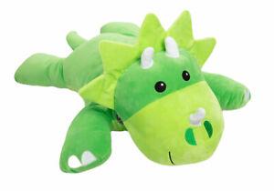 Melissa and Doug PLUSH green Triceratops Cuddle Dinosaur Extra Large Green Soft