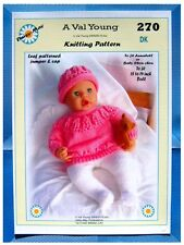"""DOLLS KNITTING PATTERN  FOR ANNABELL or 16"""" to18"""" doll.No 270 by Daisy May"""