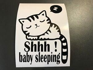 """Sticker Baby """" Shhh Baby Sleeping """" Decoration Door Room"""