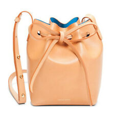 Authentic Mansur Gavriel Mini Mini Bucket Crossbody Bag - Cammello Azzurro - New