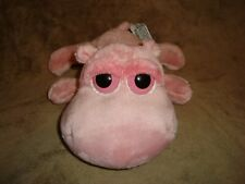 "Russ Peepers Pink Hippo Jovita 9.5"" long x 4.5"" tall Plush & Beans"