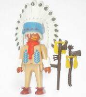 Playmobil Western INDIANER Figur Mann HÄUPTLING Ersatzteil Zubehör aus Set 3733