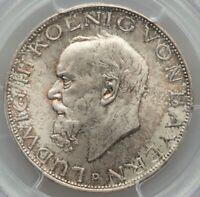 1914-D German States Bavaria, Ludwig III, 3 Mark, Munich PCGS MS 65