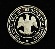 Franklin Mint Sterling Silver Medal 50 State Bicentennial Collection Mississippi