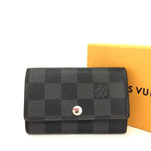 Louis Vuitton Damier Graphite Multicles 6 Ring Key Case /E1368