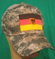 German Iron Cross Ball Cap Hat Black Hat Camo Flat Bill Snapback Baseball Biker