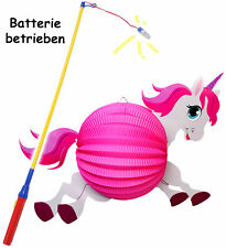 "Set: Lantern/Lantern+LED Lantern bar - "" Cute Unicorn - Pink "" - for Kids"