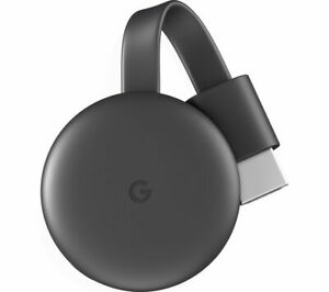 GOOGLE Chromecast 3rd Generation Charcoal Media Streaming Stick From Phone to TV