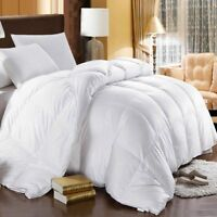 750 Extra Warmth White Goose Down Comforter; Oversize 500tc Cotton