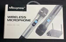 Professional Wireless UHF Microphone System Dual Handheld Wireless Microphone