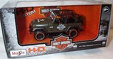 Jeep Wrangler Rubicon Harley Davidson 1-27 Scale Maisto Model New in box