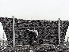1939 Original Photo by TRESTAIN basket maker shows basket used for corn crib