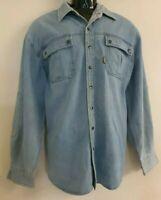 Mens DRIZA-BONE  Cotton Lightweight Casual Long Sleeve Shirt - Size Medium