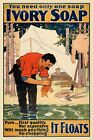 """1890s """"You Need Only One Soap - Ivory Soap"""" Vintage Advertising Poster - 16x24"""