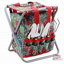 Garden Tool Set 5 Piece with Folding Seat Detachable Storage Tole Bag Pocket New