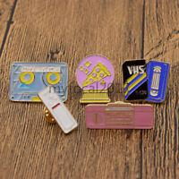 Vintage Enamel Brooch Pin Shirt Collar Breastpin Tape Recorder Jewellery 5Pcs