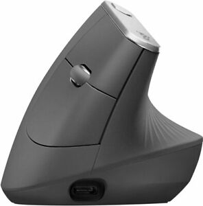 Logitech MX Vertical Mouse Bluetooth or USB Rechargeable Graphite