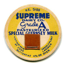 Supreme Dairy Company Denver CO Milk Bottle Cap Colorado C O