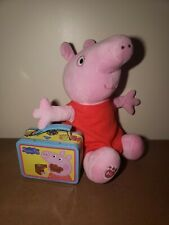 """Build A Bear Workshop Large Peppa Pig Plush 16 """" EUC with Lunch Box Accessory"""