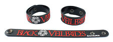 BLACK VEIL BRIDES  Rubber Bracelet Wristband Free Shipping Knives and Pens aa115