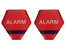 2 x Dummy Burglar Alarm Box Solar Powered Dummy Alarm Siren Flashing LED's - Red