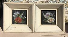 Turner Vintage Floral Prints Pair Small Ornate Frames Shabby Cottage