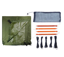 Ultralight Tarp Shelter Kit Olive Drab 5col Survival Supply Compact Bugout Fly