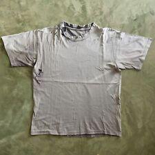 Destroyed Vtg Black Sun Faded Thrashed Distressed T Shirt Worn Work 21x26