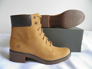 Timberland Brinda Wheat Lace Up Nubuck Ankle Boots Size 10